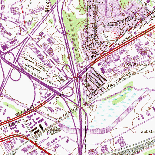 Topographic Map of Interchange 61, MD