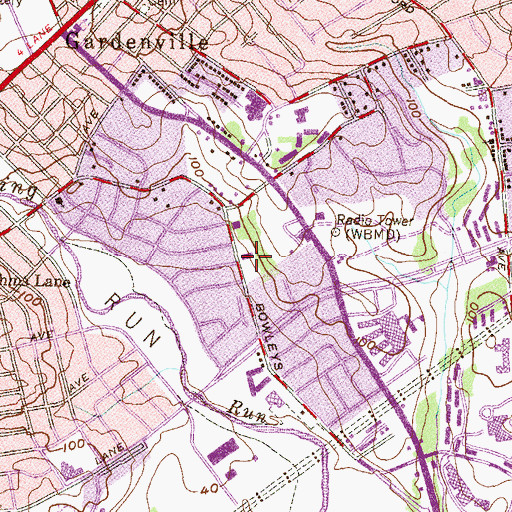 Topographic Map of School of the Most Precious Blood, MD