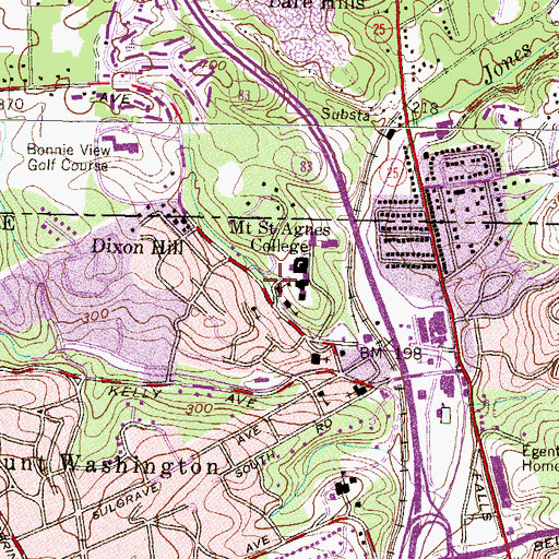 Topographic Map of Lourdes Hall, MD