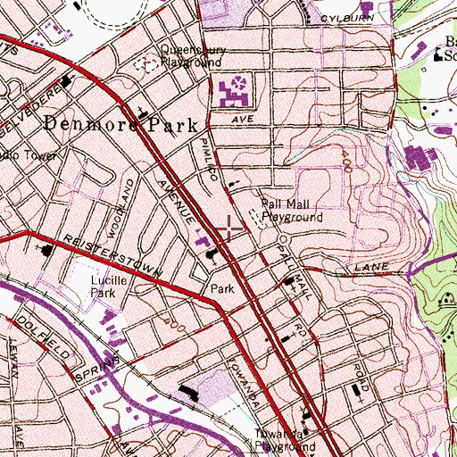 Topographic Map of Mount Sinai Home for Convalescents, MD