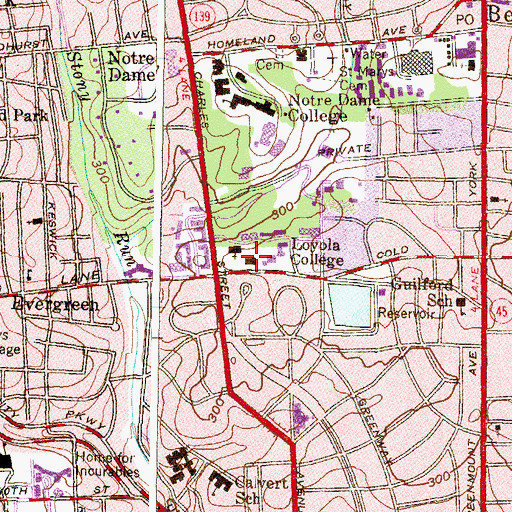 Topographic Map of George C Jenkins Science Building, MD