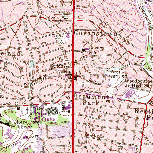 Topographic Map of Holy Comforter Lutheran Church, MD