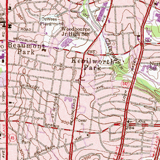 Topographic Map of New Frontiers of Faith Baptist Church, MD