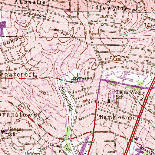 Topographic Map of Northside Baptist Church, MD