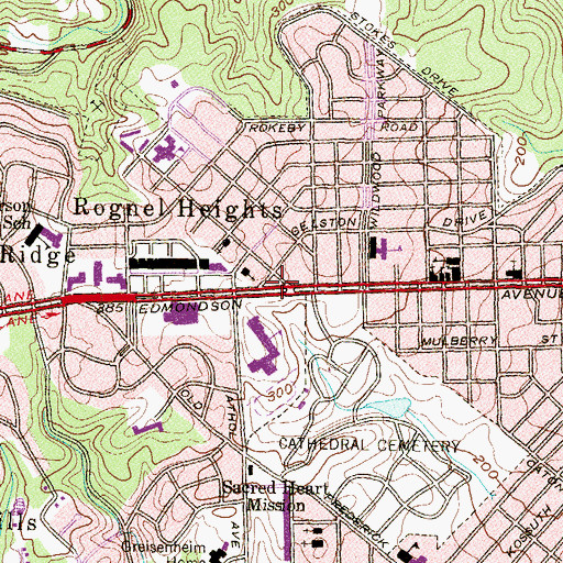 Topographic Map of Church of God, MD