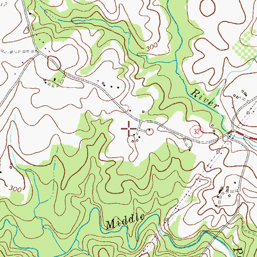 Topographic Map of Hammond High School, MD