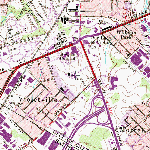 Topographic Map of Jenkins Memorial Hospital, MD