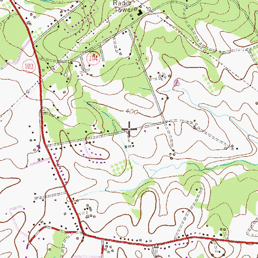 Topographic Map of Pleasant View, MD