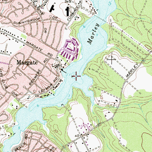 Topographic Map of Brewers Island, MD