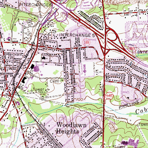 Topographic Map of Benton Terrace, MD