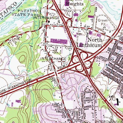 Topographic Map of Hammonds South Industrial Park, MD