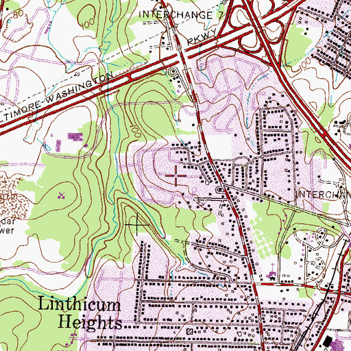 Topographic Map of Michaelton Manor, MD