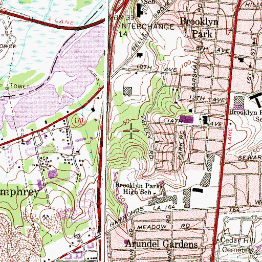 Topographic Map of Harbor Valley Estates, MD