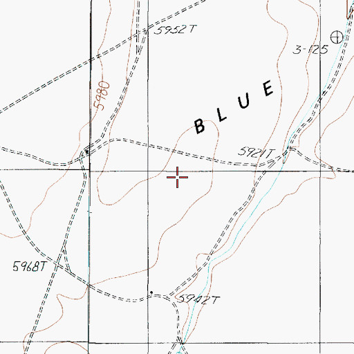 Topographic Map of Blue Moon Bench, AZ