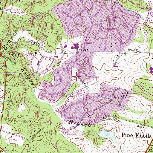 Topographic Map of Bedfordshire Park, MD