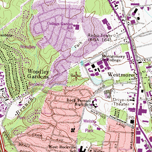 Topographic Map of Anderson Park, MD
