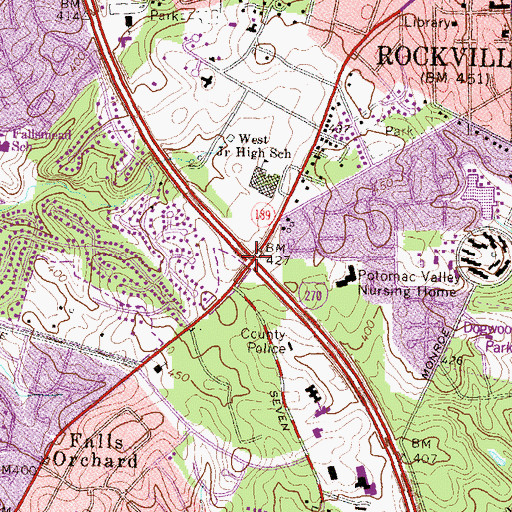 Topographic Map of Interchange 5, MD