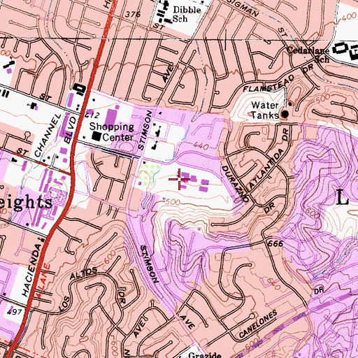 Topographic Map of Mesa Robles Elementary School, CA