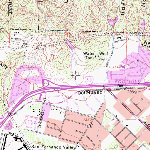 Topographic Map of Stetson Ranch Park, CA