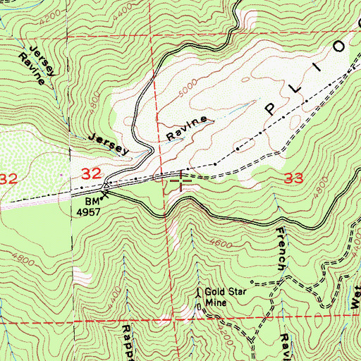 Topographic Map of Cold Springs Ranch (historical), CA
