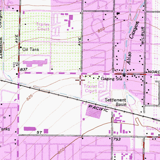 Topographic Map of Walnut Grove Shopping Center, CA