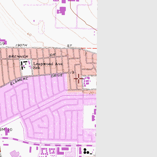 Topographic Map of Annalee Avenue Elementary School, CA