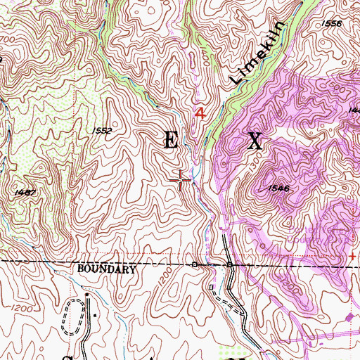 Topographic Map of Limekiln Canyon Park, CA