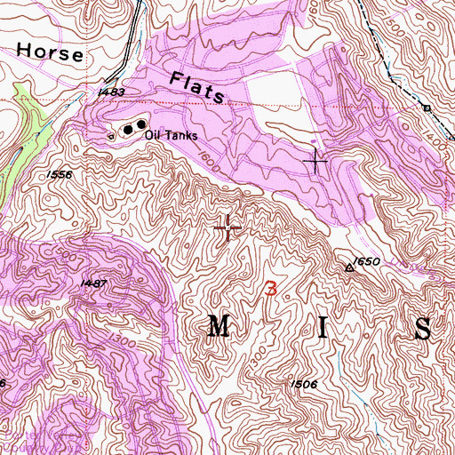 Topographic Map of Palisades Park, CA