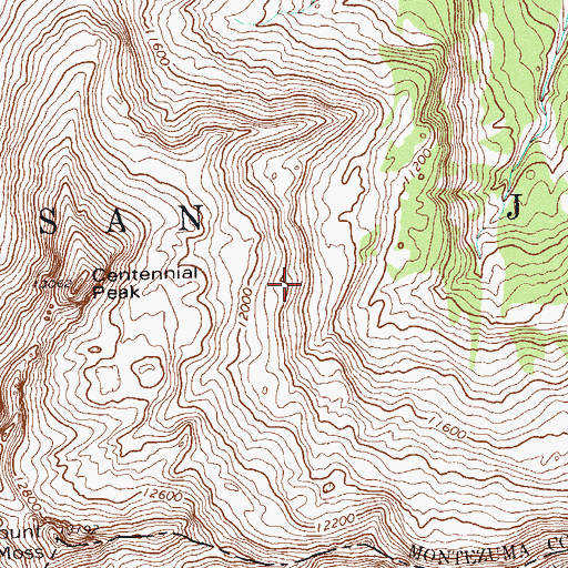 Topographic Map of Century Mine, CO