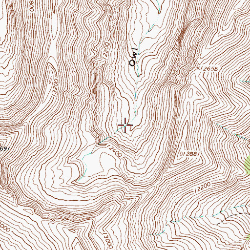Topographic Map of Moro Mine, CO