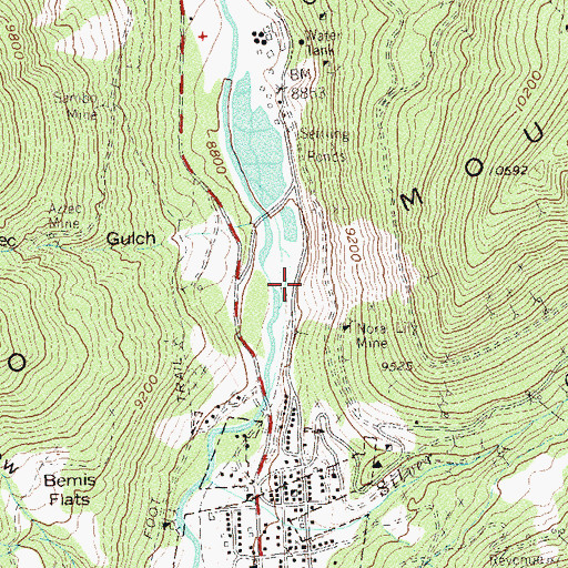 Topographic Map of Railroad Spring, CO