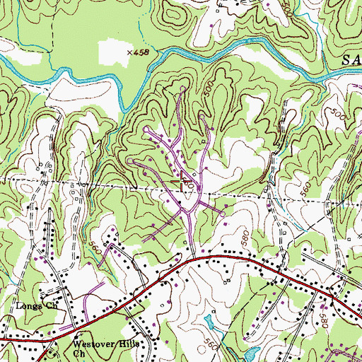 Topographic Map of Fox Hollow, VA