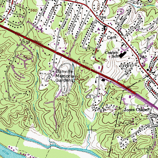 Topographic Map of Wyndover Woods, VA
