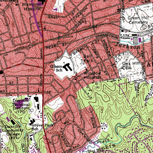 Topographic Map of Mount Zion Holy Church, VA