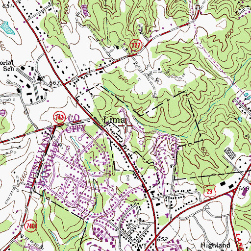 Topographic Map of Afton Hills, VA