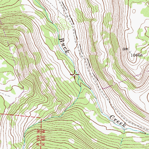 Topographic Map of Dry Buck Creek, CO
