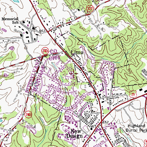 Topographic Map of Beverly Park, VA