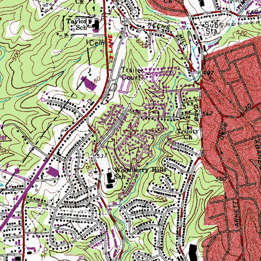 Topographic Map of Starmount Forest, VA