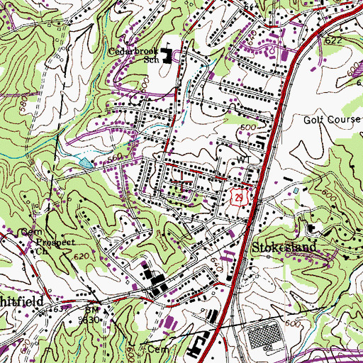Topographic Map of Withers Park, VA