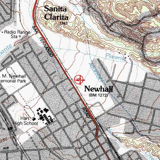 Topographic Map of Emmaus Park, CA