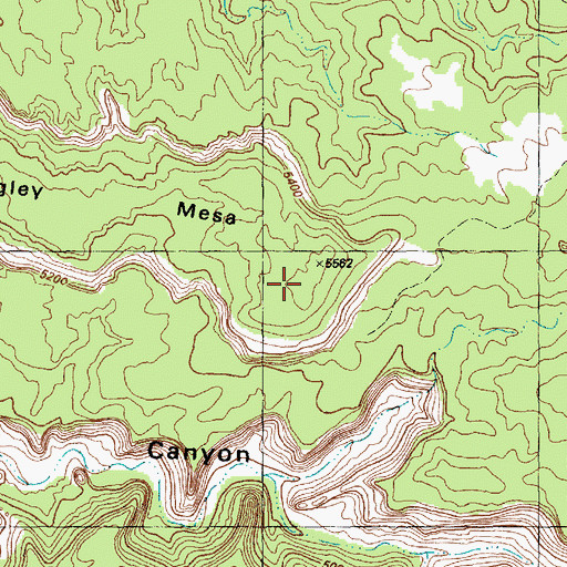 Topographic Map of Wrigley Mesa, CO