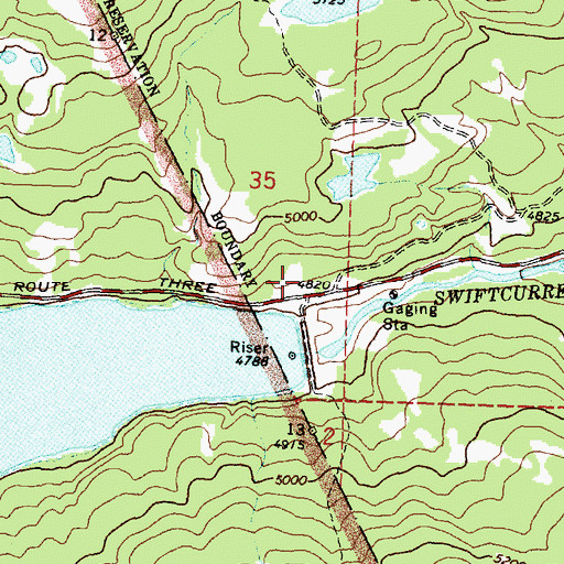 Topographic Map of Sherburne Post Office (historical), MT