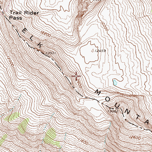 Topographic Map of Elk Mountains, CO