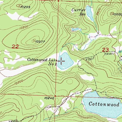 Cottonwood Lakes Elevation : Cottonwood lake number co