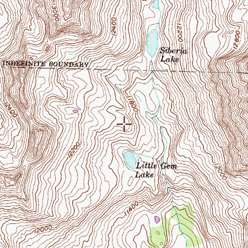 Topographic Map of Little Gem Lake, CO