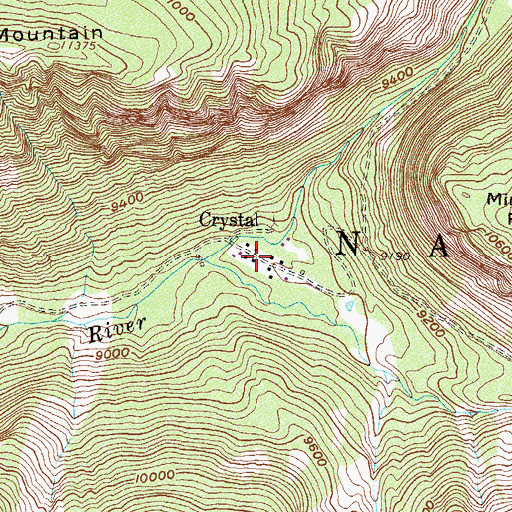 Topographic Map of Crystal, CO