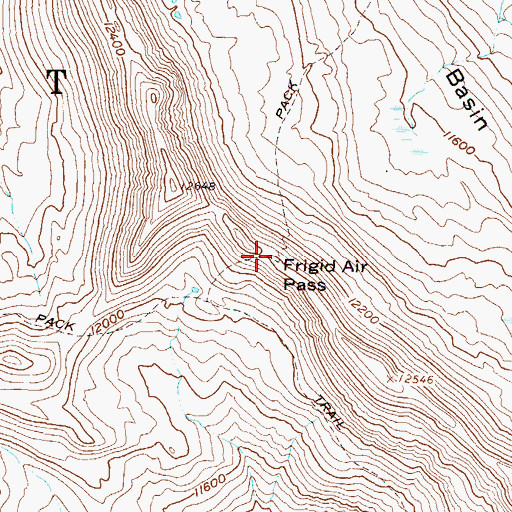 Topographic Map of Frigid Air Pass, CO