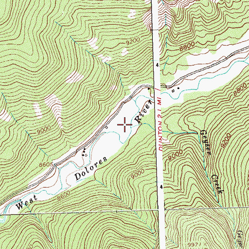 Topographic Map of Geyser Creek, CO