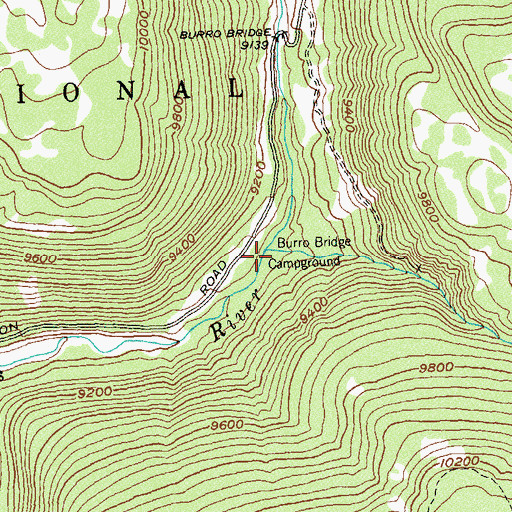 Topographic Map of Morrison Creek, CO