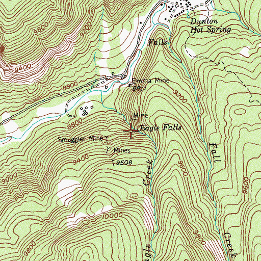 Topographic Map of Eagle Falls, CO